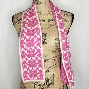 Coach | Monogram Pink & Cream Scarf